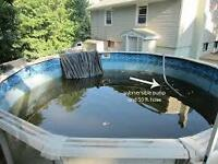above ground pool removal at a great price ,,,with removal of a