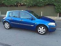 2005 RENALT MEGANE 5 DOOR HATCHBACK, DIESEL, 55 MPG, £30 TAX, LONG MOT .