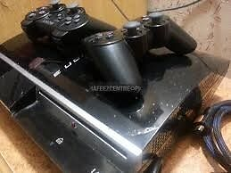 Sony Playstation 3 (Ps3) Console - FAT - 80GB - Two Controllers - Black - NO Games