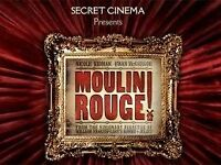2 x Secret Cinema Moulin Rouge Tix Thursday 25th May ONLY £100 the pair (less than face value)