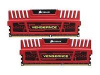 8GB (2X4GB) DDR3 Corsair vengeance red ram.