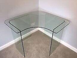John Lewis glass corner table