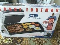 George Foreman G2 Grill and Griddle - Excellent Condition, Boxed