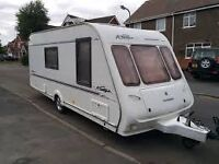 Compass Rallye 2001 4 berth family caravan with awning
