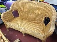 Wicker Garden or Patio Furniture part of a house clearance may need a clean.