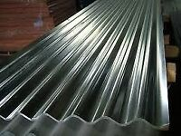 30 wriggly , corrugated iron, steel, tin roof sheets 8ft