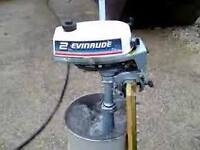 2 hp evinrude outboard short shaft