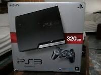 sony playstation 3 ps3 games console with games blu ray player slim 300 gig