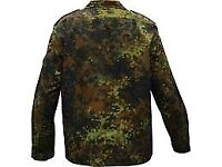 Vintage 80's German Army Shirt FLECKTARN CAMOUFLAGE Grade 1 Military shirt Camo