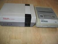 nintendo nes and or snes for sale in very good condition hence price