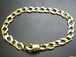 Wanted men's gold bracelet