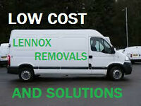 Lennox Removals and solutions White Van man Rubbish bulk waste sofas glasgow moving uk