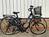 """Espiria ladies traditional bike 28"""" wheels all black inc basket"""