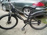 X -Rated Junior mountain bike. 50° 26 inch wheels