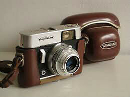 Voigtlander vito b camera with leather case and flash