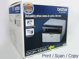 Brother DCP1510 Laser Print Copy Scan in black 1500 page toner £14.99 12 Mths Warranty Laptop PC
