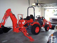 Operator and Compact Tractor for Hire