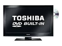 Toshiba 32 Inch HD LCD TV/DVD/Freeview/USB/Remote. Bargain. NO OFFERS (tv,led,lcd,plasma,cheap)