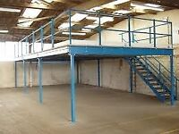 MEZZANINE FLOORS MADE TO SIZE! ( INDUSTRIAL STORAGE , PALLET RACKING )