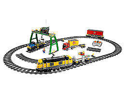 Full lego intermodal container train set