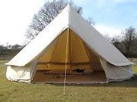Bell tents available for work on a farm