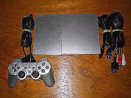 PS2 console with controller.