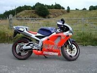 APRILIA RS125 ROSSI STOLEN large reward given reg# S420 KPO frame# ZD4MP0100W5001371 eng# RO582233.