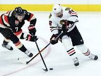 Chicago BlackHawks @ Ottawa Senators Hockey - 2 tickets - Dec 3