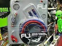 fli 1500w 8 gauge wiring kit for car amplifier or sub