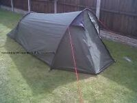 Eurohike 3 man tent - used once. Set up in minutes. Includes integral ground sheet.