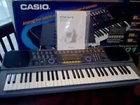 Casio CTK601 1990s Synth/Keyboard in original box / AC adaptor / manual