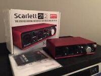 Focus rite scarlet 2i2 new in box