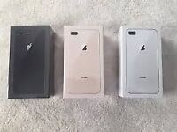 APPLE IPHONE 8 PLUS 64GB UNLOCKED BRAND NEW COMES WITH APPLE WARRANTY AND RECEIPT