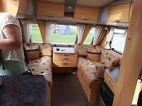 STERLING ECCLES OPAL 4 BERTH TOURING CARAVAN FIXED ISLAND BED 2008 EX CONDITION WITH MOTOR MOVER