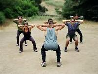 fitness group outdoor training, endurance