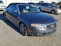 AUDI A4 CAB 2003-2010 BREAKING SPARES AIRBAG LEATHER SEATS ALLOY DOORS AXLE HUBS CORNERS
