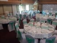 £.50p! £.50p! £.50p Black/White Chair and Table Cover Hire in Huddersfield Area