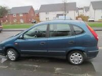 FOR SALE 2002 NISSAN TINO 2.2 DCI DIESEL FULL YEARS MOT.