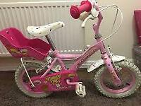 "Apollo Cupcake Childrens Girls 12"" Inch Wheels First Training Bike Bicycle Pink"