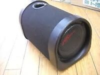 kenwood sub woofer with built in amp with leads