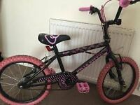 """HELLO KITTY BMX 18"""" BIKE AND HELMET PACKAGE GOING CHEAP £40 ONLY!!!"""