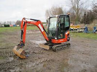 Mini digger with Driver avaiable at short notice( London wide)