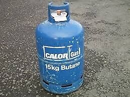 Calor Gas 'Empty' 15kg Butane BBQ gas bottle, can be delivered