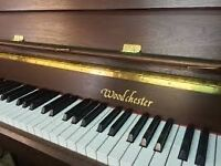 Woodchester Modern Upright Piano, 88 Keys, 3 pedals + stool