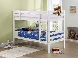 Solid Wood Single Bunk Beds