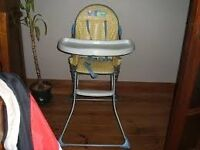 Bruin high chair in great condition. Blue and yellow