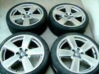 """5×18""""alloy wheels audi a6,a4,a3, vw, vauxhall,£250"""