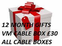 12 month gifts lines vm cable box zgemma evo nova .mutant .amiko istar .skybox
