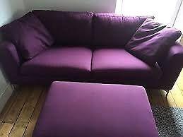 Furniture Village Apex Indigo Set Large 2 seater, footstool and chair