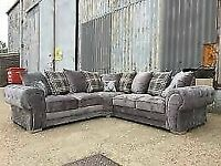 🔵SPRING SALE ON🔴verona 3 and 2 seater sofa set in grey color-cash on delivery